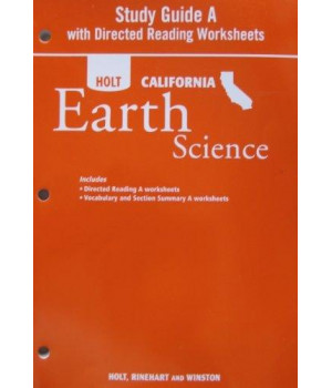 Study Guide A with Directed Readings Worksheet for Holt California Earth Science