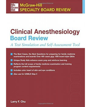 McGraw-Hill Specialty Board Review: Clinical Anesthesiology Board Review