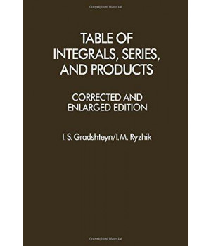 Table of Integrals, Series and Products, Corrected and Enlarged Edition (English and Russian Edition)