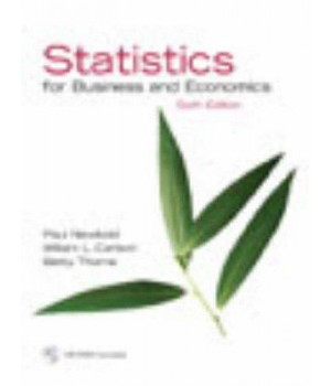 Statistics for Business and Economics and Student CD (6th Edition)