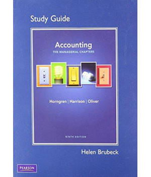 Study Guide for Accounting, Chapter 14-24 (Managerial Chapters)