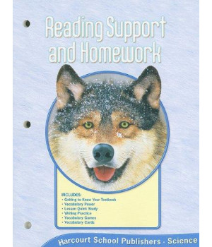 Harcourt Science Reading Support and Homework,Grade 4: National Version
