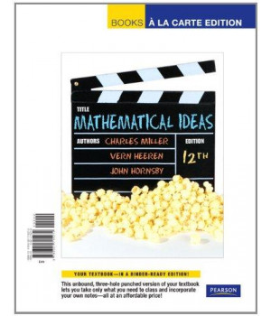 Mathematical Ideas, Books a La Carte Edition (12th Edition)