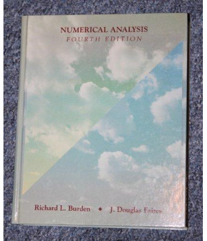 Numerical Analysis (The Prindle, Weber & Schmidt series in mathematics)