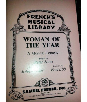 Woman of the year: A musical comedy (French\'s musical library)
