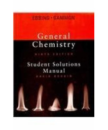 Ebbing General Chemistry Student Solution Manual Ninth Edition