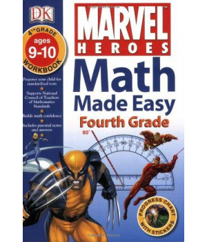 Math Made Easy: Marvel Heroes: Fourth Grade
