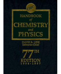 CRC Handbook of Chemistry and Physics 77th edition 1996-1997