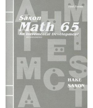 Math 65: An Incremental Development (Test Forms booklet)