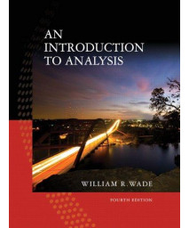 An Introduction to Analysis (4th Edition)