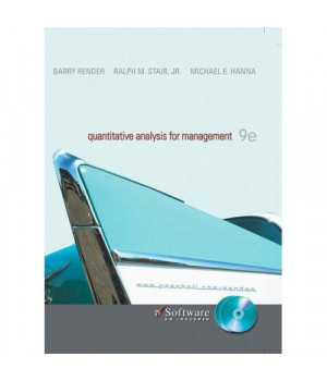 Quantitative Analysis for Management with CD (9th Edition)