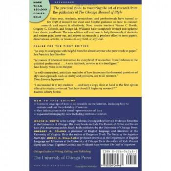 The Craft of Research, 2nd edition (Chicago Guides to Writing, Editing, and Publishing)