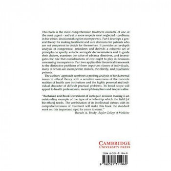 Deciding for Others: The Ethics of Surrogate Decision Making (Studies in Philosophy and Health Policy)