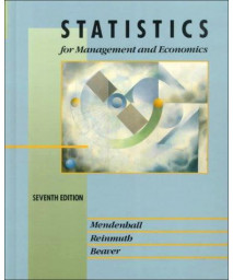 Statistics for Management and Economics (International Dimensions of Business Series)      (Hardcover)