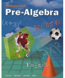 McDougal Littell Pre-Algebra: Student Edition 2005      (Hardcover)