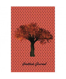 Gratitude Journal: Red &Black Polka Dot Tree: The Best Weekly Thanksgiving &Gratitude Motivational Journal for you to Reflect &Be Thankful   Paperback 6 x 9   Non Dated- 52 Weeks &Quotes