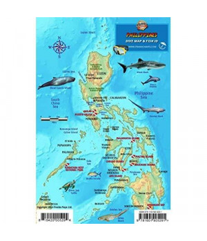 Philippines Dive Map & Coral Reef Creatures Guide Franko Maps Laminated Fish Card