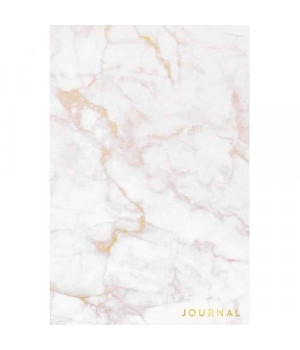 Journal: Elegant White Marble - Rose Gold Veins- Marble & Gold Journal | 120 College-ruled Pages | 6 x 9 Size (Marble + Gold Collection - Journal, Notebook, Diary, Composition Book)