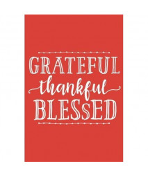 Grateful, Thankful, Blessed (6x9 Journal): Lined Writing Notebook, 120 Pages – Harvest Orange with Inspiring, Motivational Quote and Decorative Heart on Back