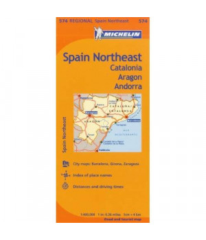 Michelin Spain: Northeast Catalonia, Aragon, Andorra, Map 574 (Maps/Regional (Michelin))